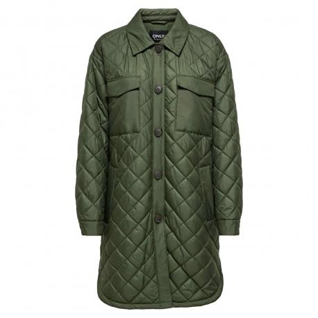 Forest Night ONLTANZIA QUILTED SHACKET 15228453 fra Only