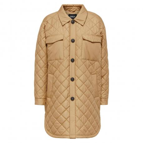 Tan ONLTANZIA QUILTED SHACKET 15228453 fra Only